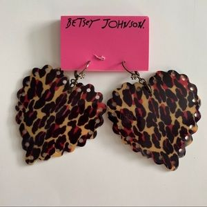 Betsey Johnson vintage leopard print shell ears